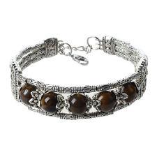 """Tibetan Tibet Silver Tiger Eye Bracelet Bangle 0.66"""" HOT T7N1"""