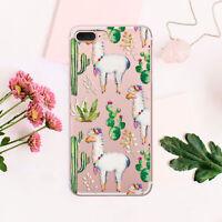 Succulent iPhone 7 8 Plus Cover Llama iPhone XR Case Alpaca iPhone 6 6s Sleeve