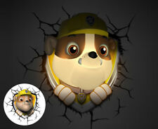 3d Paw Patrol Rubble Deco Light Wall Night LED Lamp Gift Kids Yellow - Genuine