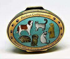 "Halcyon Days Enamel Box - Cats & Dogs - ""Perfect Companions"" - Neiman Marcus"