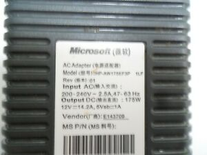 XBOX 360 POWER SUPPLY GENUINE ORIGINAL ADAPTER  XBOX360 HP-AW175EF3P X815556-003