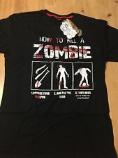 How To Kill A Zombie Darkside Clothing Halloween T Shirt - Extra Large