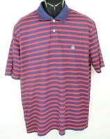 Brooks Brothers Men's Size XL Navy Red Striped Blue Logo Rugby Polo Shirt EC