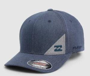 BILLABONG CAP HAT NEW MENS  STATION NAVY STRETCH FIT  Arch Brim Surf Logo Skate
