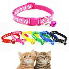 Swell Pet Collar Dog Cat Footprint Safety Adjustable Nylon Leash Collars with