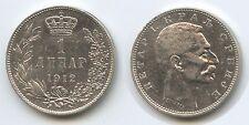 G12206 - Serbien 1 Dinar 1912 KM#25 Silber Peter I.1903-1918 Republika Srbija