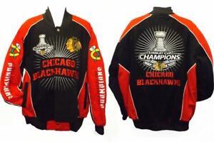 2015 Chicago Blackhawks MENS Sizes S-3XL Black 6-Time Champion Jacket