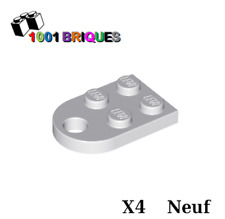 Lego 3176 x4 Plate, Modified 3 x 2 with Hole LIght Bluish Grey