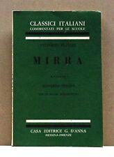MIRRA - V.Alfieri [libro, a cura di R.Tosto, G.D'Anna, classici italiani]