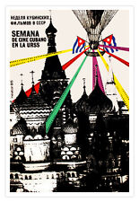 Cuban movie Poster for Cuba film.KREMLIN.Soviet art.Semana de cine Cubano