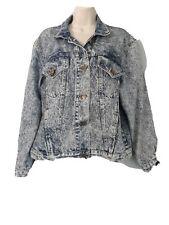 Vintage Gitano Acid Wash Denim Jean Jacket Women's Sz L