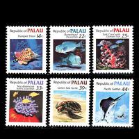 Palau 1985 - Marine Life Fish - Sc 75/80 MNH