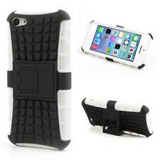 Apple iPhone 5C Outdoor Case TPU Hybrid Rugged Kickstand Reifen Schwarz Weiß