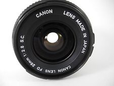 CANON FD 28MM 2.8 SC LENS PERFECT GLASS LENS LOOKS UNUSED PERFECT CLEAN