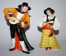 Royal Crown Derby - Spanish Duet Figurines, F466 & F467 - 1933 - vgc