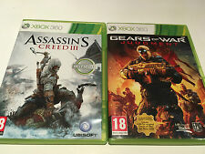 2 Games for Xbox 360 - Gears of War Judgment & Assassins Creed 3 III