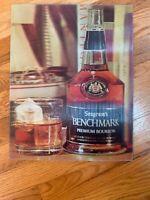 """Vintage Vari Vue Seagrams Benchmark Premium Bourbon 3D Picture 11x14"""""""