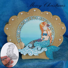 Mermaid Style Metal Cutting Dies Stencils DIY Scrapbooking Album Paper Card New