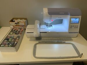 Brother PE 800 Embroidery Machine, New thread, loops and stabilizer sheets