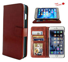 iPhone 6s Plus Soft Leather Wallet Case BONUS Tempered Glass Screen
