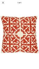 Safavieh Moroccan Sunburst Pair Of Euro Pillows- Orange NEW Cotton