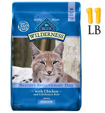 New listing Blue Buffalo Blue Wilderness Adult Indoor Chicken Recipe Dry Cat Food11 lbs