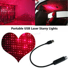 Car Atmosphere Light Interior USB LED Laser Remote Star Sky Light Projector Red