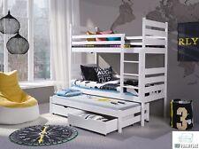 Etagenbett 90x200 Kinderbett Bett Hochbett Stockbett Doppelbett mit Matratze ÖKO