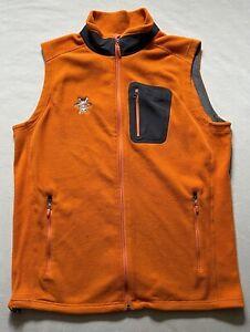 Marmot Polartec Fleece Vest Mens Size Large Orange