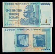 1 x Zimbabwe 100 Trillion dollar banknote-2008/AA / authentic currency