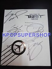 BEAST The 1st Concert Making Book Autographed Signed Welcome To B2ST Airline DVD