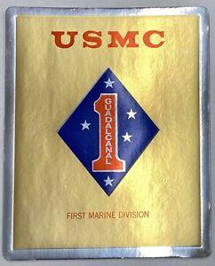 USMC Gold Foil Cardboard Poster Lot (5 Posters)