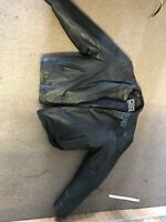 River Road Leather Jacket Mens 58 Black Motorcycle Coat Lined Full Zip Insulated