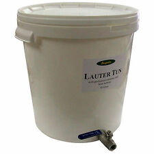 Lauter Tun 30 litre Stainless Filter Bottom Ball Valve Tap Can convert to mash