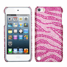 iPod Touch 5 5th gen Crystal Diamond BLING Hard Case Snap On Cover Pink Zebra