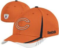 New NWT NFL Reebok Chicago Bears Orange Sideline Draft Day Hat Cap S/M