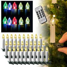LED Weihnachtskerzen Lichterkette Weihnachtsbaum Kerzen Licht Kabellos Warm/RGB