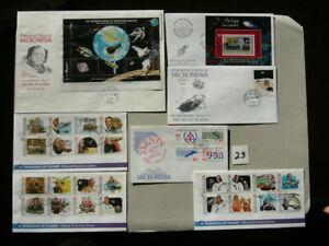 7 FDC Mikronesien Weltraum