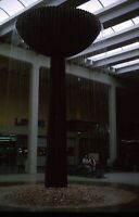 Indoor Water Fountain Shopping Mall 1965 60s Vintage 35mm Kodachrome Slide