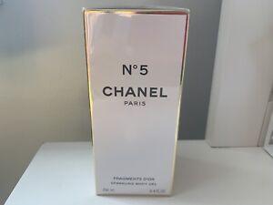 CHANEL NO 5 Gold Fragments Sparkling Shimmering Silky Body Gel 8.4 oz