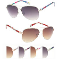 NICHE SUNGLASSES Aviator Sunglasses for Women Metal Frame Mirror UV400 Lens