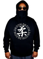 New Men's Jiu Jitsu Circle Mask Hoodie Martial Arts BJJ MMA Choke Sweater Jacket
