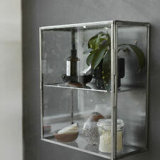 Stainless Steel Wall Hanging Storage Cabinet With Glass Door by House Doctor