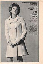Ancien PATRON couture MODES DE PARIS n° 1123/MANTEAU léger/1970/Vintage