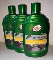 3x Turtle Wax leather cleaner and conditioner Car Auto Protects & Restores 500ml
