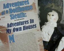 18p History Article - Antique Queen Ann Peg Wooden Doll House Dolls, Accessories