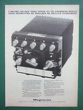 1970'S PUB MAGNAVOX EMETTEUR RECEPTEUR UHF AN/ARC-150 AIRCRAFT FRENCH AD