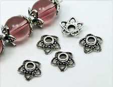 20x Tibetsilber Perlkappen Perlenkappen 4x11mm ms139