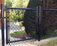 600' 5'H ALL BLACK Chainlink Fence Package Includes Gate, Posts, Rail & Hardware