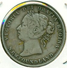 1874 NEWFOUNDLAND FIFTY CENTS, FINE-VERY FINE, GREAT PRICE!